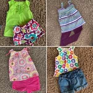 Other - 8 piece girls 4T (4 outfits) summer clothes